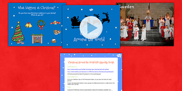 Christmas Around the World Assembly Script and PowerPoint KS2
