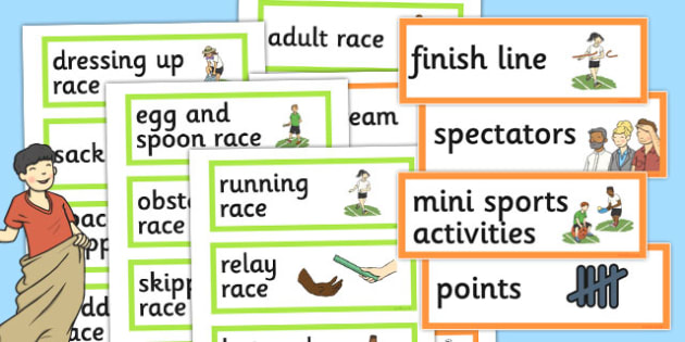 Sports Day Word Cards - sports day, word cards, word, cards