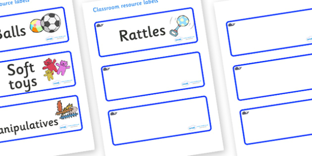 Whale Themed Editable Additional Resource Labels - Themed Label template, Resource Label, Name Labels, Editable Labels, Drawer Labels, KS1 Labels, Foundation Labels, Foundation Stage Labels, Teaching Labels, Resource Labels, Tray Labels, Printable la