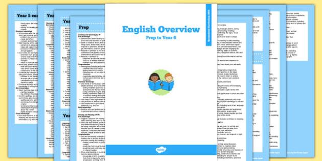 Queensland Curriculum Prep to Year 6 English Literacy Syllabus Overview - australia