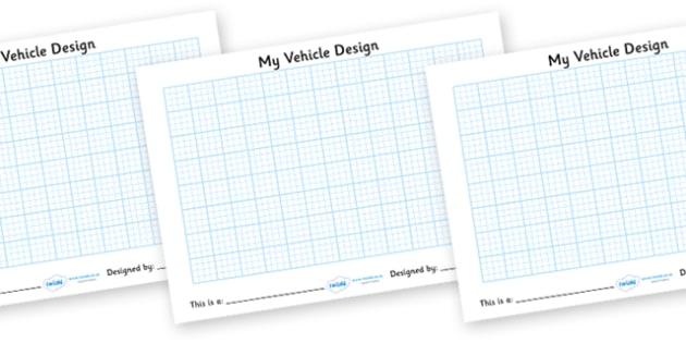 Design Your Own Vehicle - Transport, design, activity, draw, invent, car, van, lorry, bike, motorbike, plane, aeroplane, tractor, truck, bus