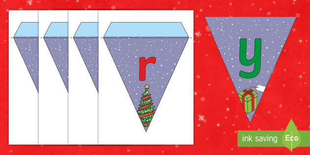 Merry Christmas Bunting - merry christmas, christmas, bunting, themed bunting, display bunting, display, bunting flags, flag bunting, cut out bunting