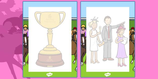 The Melbourne Cup Editable Note - australia, melbourne cup, editable, note
