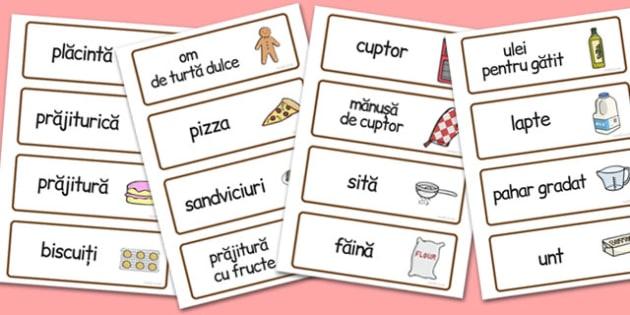 La Brutărie - Cartonașe cu imagini și cuvinte