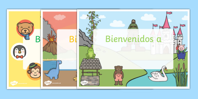 Bienvenidos a Editable Welcome Signs Spanish - spanish, editable signs, welcome signs, signs and labels, welcome to our classroom, welcome to our school, make your own welcome signs