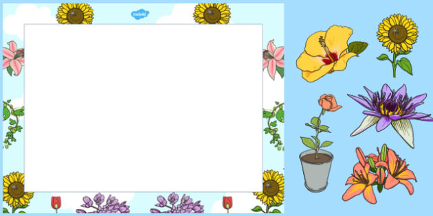 Flower Themed Editable PowerPoint Background Template - flower, editable powerpoint, powerpoint, background template, themed powerpoint, editable