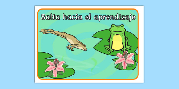 Leap Into Learning Motivational Poster Spanish