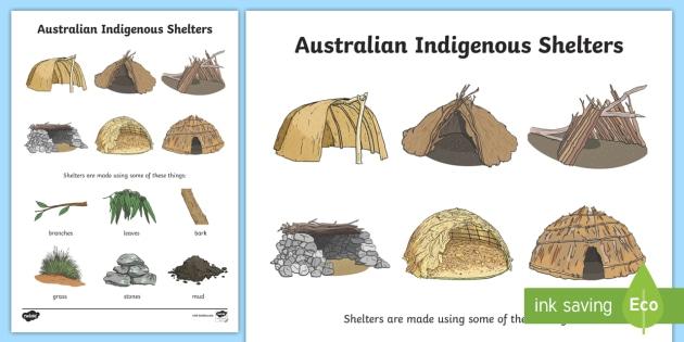 Aboriginal Shelters Display Poster - aboriginal shelter, shelters, aboriginal, indigenous Australians, Australian history, buildings, Aus