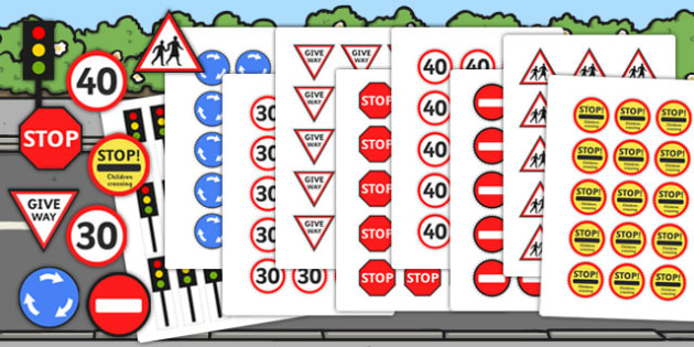 Small World Road Signs and Traffic Lights - small world, road