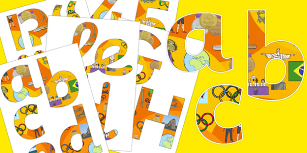 Rio Olympics 2016 Display Lettering Pack - rio 2016, rio olympics, rio olympics 2016, 2016 olympics, display lettering, pack