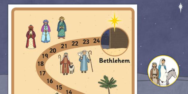 Journey to Bethlehem Interactive Advent Calendar Display - journey, bethlehem, advent calendar, display