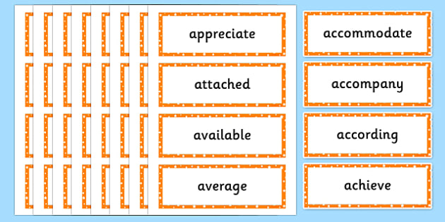 2014 Curriculum Spelling List Word Cards Years 5 and 6 - spell, spelling aid, new curriculum spelling year 5&6
