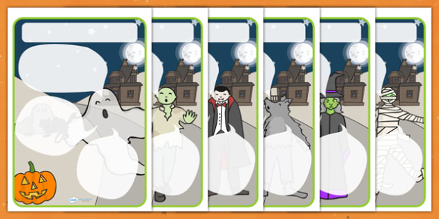Halloween Themed Target Posters Speech Bubbles - halloween, halloween themed, target posters, targets, class targets, themed targets, class management