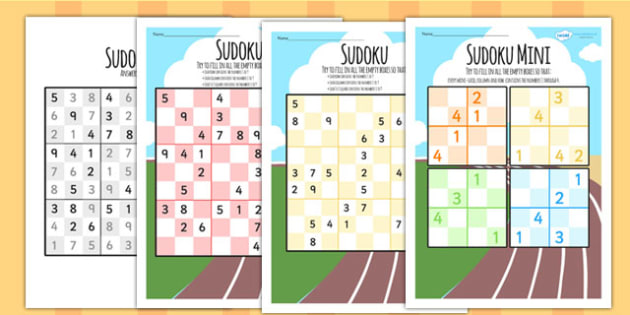The Commonwealth Games Sudokus Differentiated - sport, pe, games