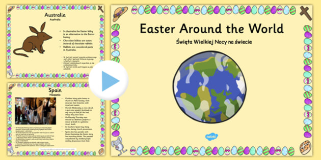 Easter Around the World PowerPoint Polish Translation - polish, easter, religion, RE, ppt