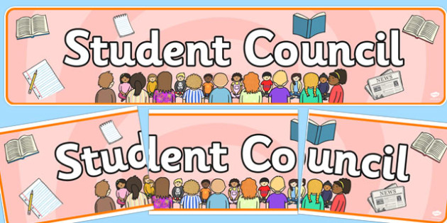 Student Council Display Banner - student council, display banner, student council display, council display banner, student council banner