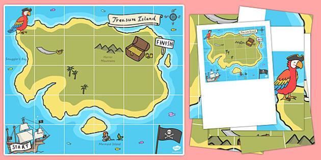Bee Bot Treasure Map - bee bot, treasure map, map, treasure