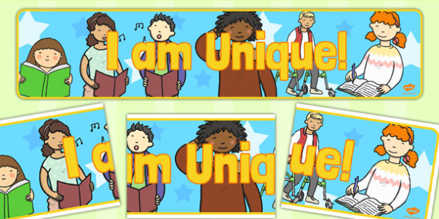 I Am Unique Display Banner - I Am Unique, Unique, Unique Display Banner, I Am Unique Display Banner, Me, Display Banner, Display