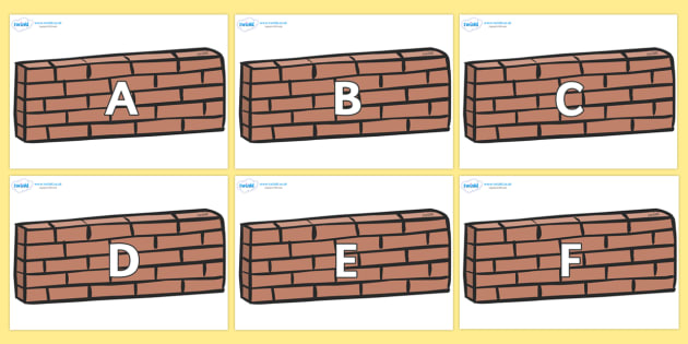 A-Z Alphabet on Wall - A-Z, A4, display, Alphabet frieze, Display letters, Letter posters, A-Z letters, Alphabet flashcards