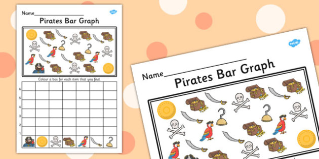 Pirates Bar Graph - pirates, bar graph, bar, graph, activity