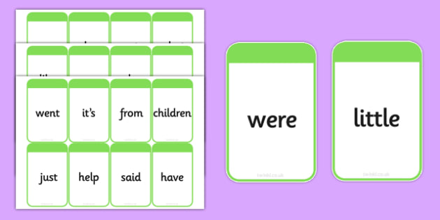 Phase 4 High Frequency Words Flashcards - flashcard, words, word