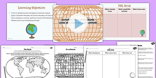 Lines of Latitude and Longitude Teaching Pack - geography, maps