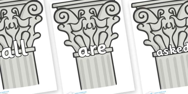Tricky Words on Columns - Tricky words, DfES Letters and Sounds, Letters and sounds, display, words