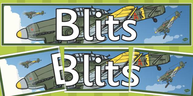 Blitz Themed Banner Welsh -  blits banner, display