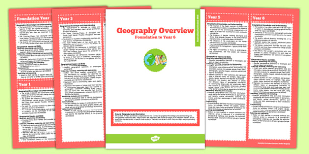 Australian Curriculum Foundation to Y6 Overview Booklet Geography