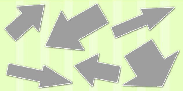 Grey Directional Arrows Cut Outs -  grey directional arrows, cut outs, directional arrows, directional arrow cut outs, directional arrows worksheet