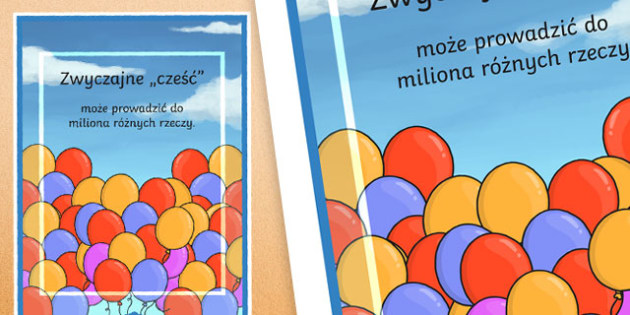 Plakat motywacyjny Zwyczajne Cześć po polsku