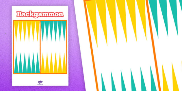 Printable Backgammon Board - printable, game, activity, class, backgammon board