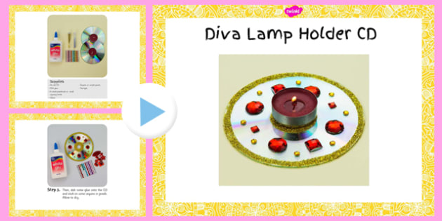 Diva Lamp Holders CD Craft Instructions PowerPoint - diva lamp, holders, cd, craft, instructions, powerpoint