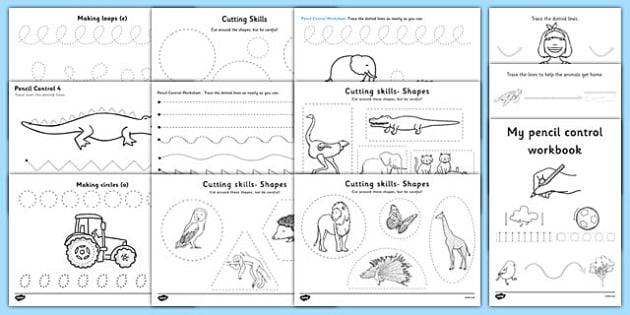 Pencil Control and Scissor Skills Resource Pack - Fine Motor Skill