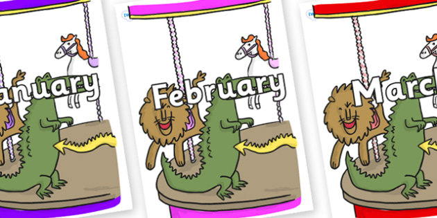 Months of the Year on Trick 3 to Support Teaching on The Enormous Crocodile - Months of the Year, Months poster, Months display, display, poster, frieze, Months, month, January, February, March, April, May, June, July, August, September
