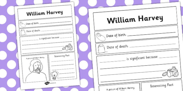 William Harvey Significant Individual Writing Frame - writing
