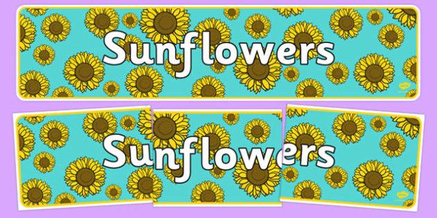 Sunflowers Display Banner - sunflowers, display banner, display, banner