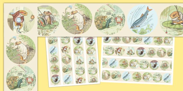 The Tale of Mr Jeremy Fisher Display Borders - beatrix potter, display, edging, neat, fun, bright, illustrated, books, english, literacy, ks1, key stage 1, early years, traditional, tale, story
