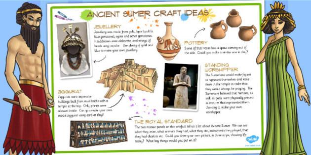 Ancient Sumer Craft Ideas - history, ks2 history, craft, design