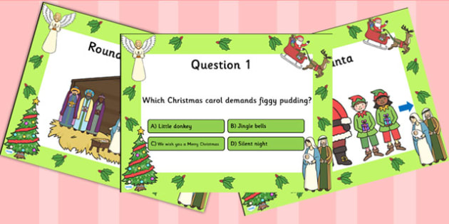 Christmas Themed Quiz PowerPoint - christmas, powerpoint, quiz