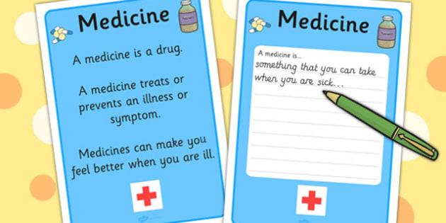 Medicine Definition Card - Medicine, Tablet, Card, Definition