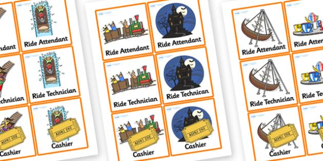 Theme Park Role Play Badges-theme park, role play, badges, theme park role play, role play badges, theme park badges, badges for role play