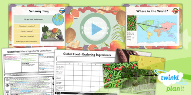 PlanIt - DT UKS2 - Global Food Lesson 1: Where Ingredients Come From Lesson Pack