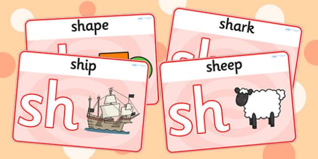sh Sound Playdough Mats - sh, sh sound, sound, motor skills, mat