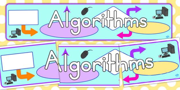 Algorithms Display Banner - banners, displays, visuals, visual