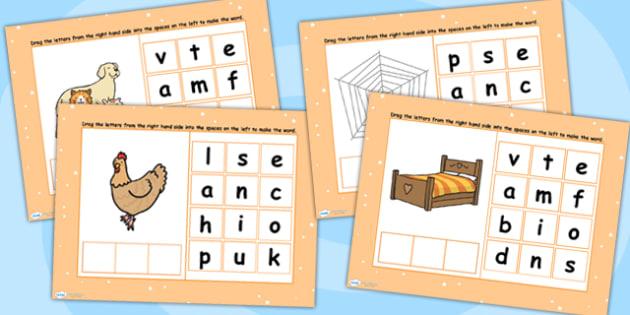 CVC Words E Spelling Flipchart - CVC words, spellings, flipchart