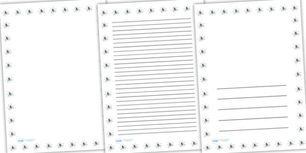 Crane Fly Full Page Borders - page borders, A4, minibeast page border, crane fly page border, crane fly, daddy longlegs, border for page, lined pages