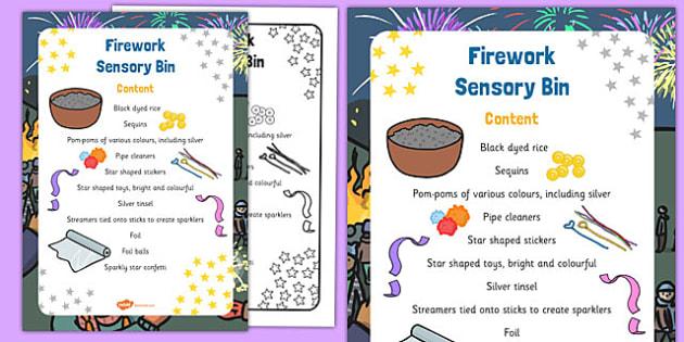 Firework Sensory Bin - firework, sensory bin, sensory, bin, eyfs, early years