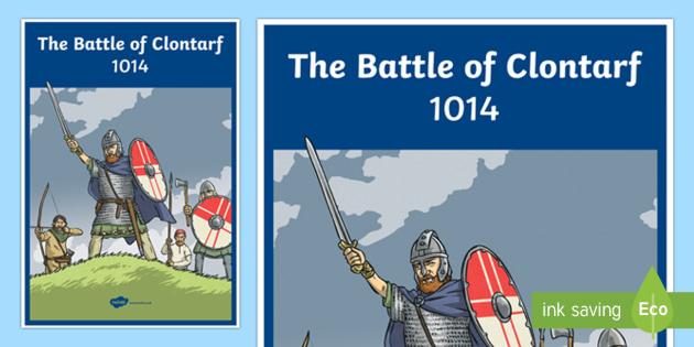 The Battle of Clontarf Large Display Poster-Irish