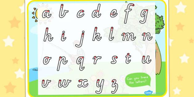 Spring Themed Letter Writing Worksheet - fine motor skills